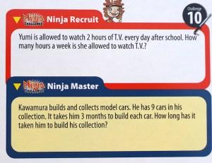 Number Ninjas word problems
