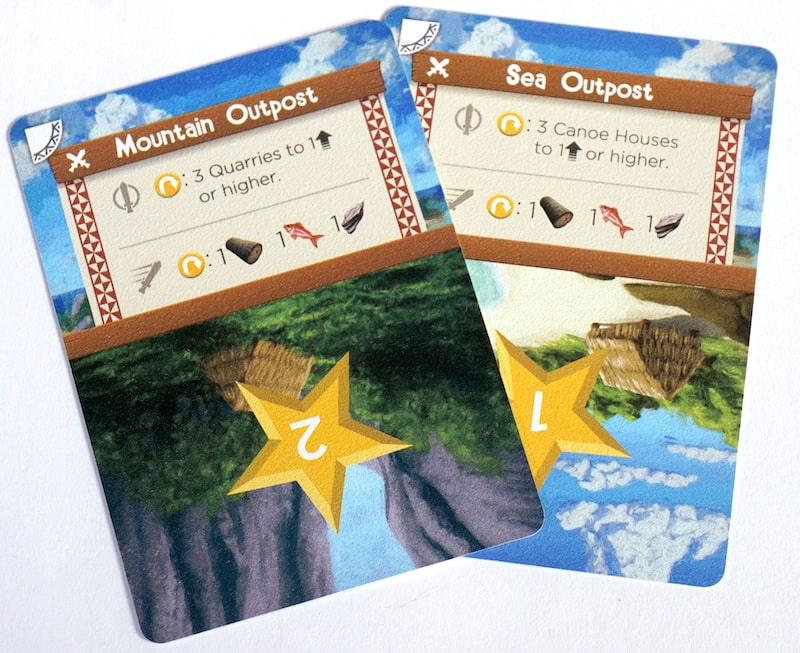 Palm Island competitive cards - outposts