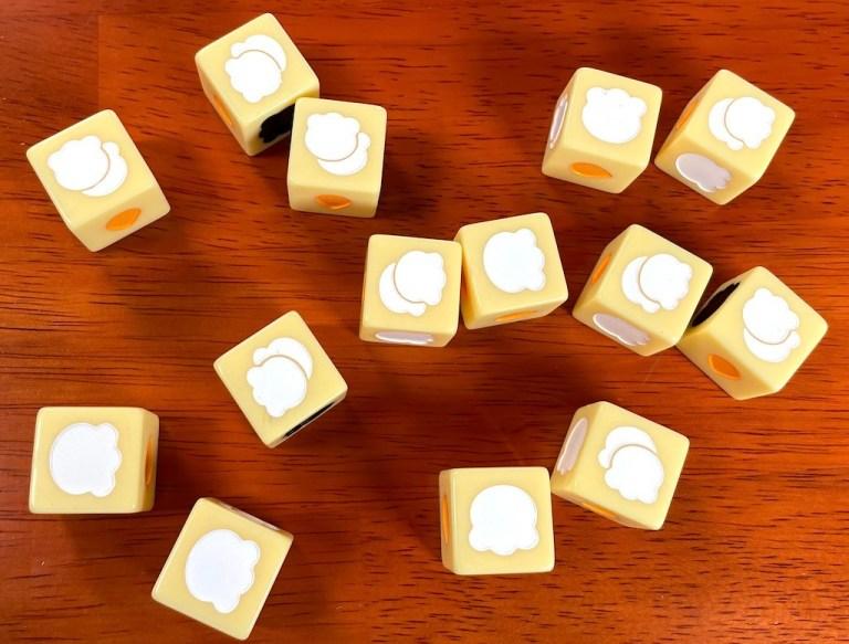 14 popcorn dice