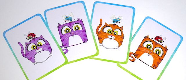 four cat cards