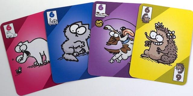 four 6s from Simon's Cat game - cat, kitten, dog, hedgehog