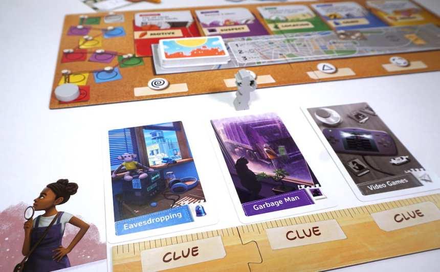 Spy Club player board and central board