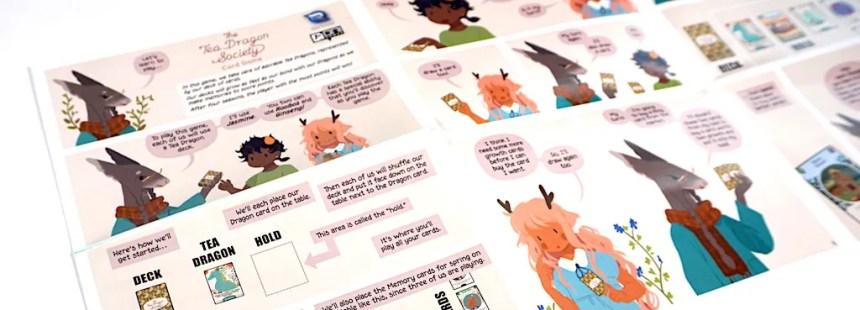 Tea Dragon Society instructional comic
