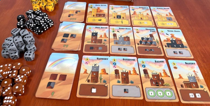 Tumble Town Building Plan cards
