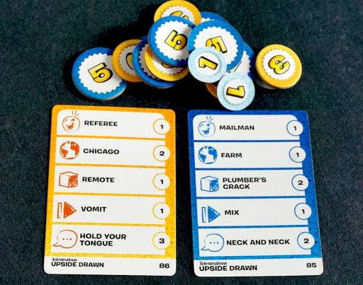 tokens and Telestrations cards
