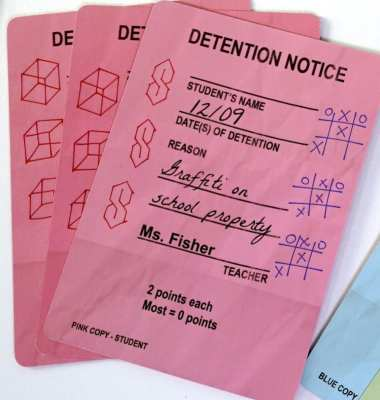 Trapper Keeper Game: Detention