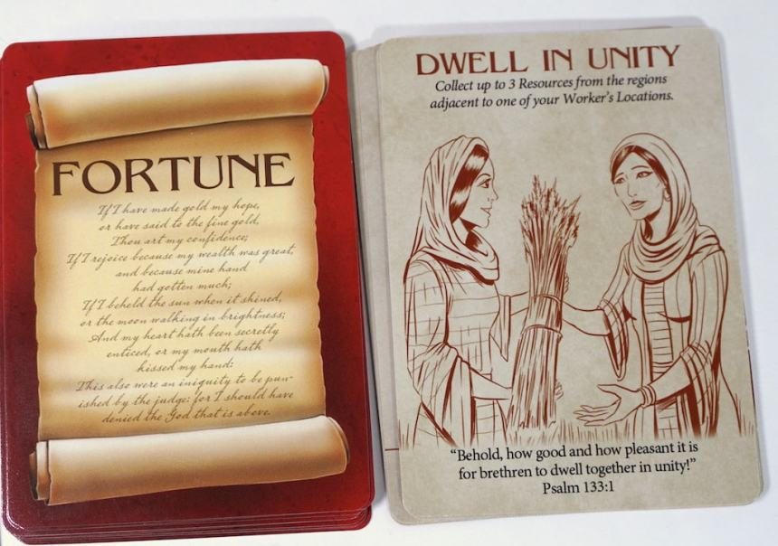 """Card: """"Dwell in Unity"""" - collect up to 3 Resources from the regions adjacent to one of your Worker's Locations."""