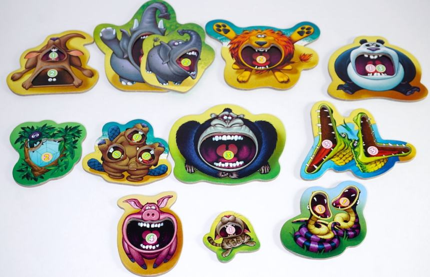 Kangaroo, Elephants, Lion, Panda, Spider, Beavers, Gorilla, Crocodiles, Pig, Cat, Snakes