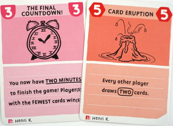 BLANK cards: The Final Countdown! and Card Eruption