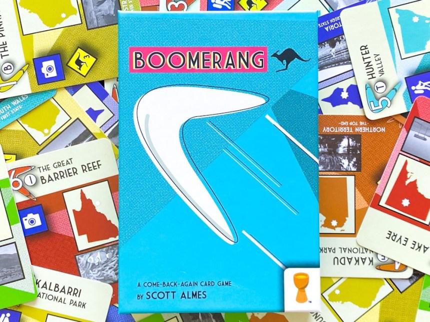 Boomerang Board Game - drafting your way through Australia.