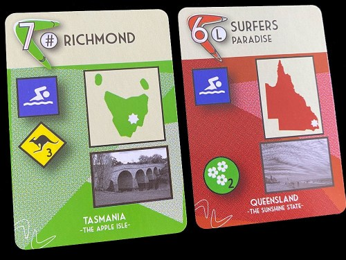 Boomerang Game cards: Richmond, Surfers Paradise