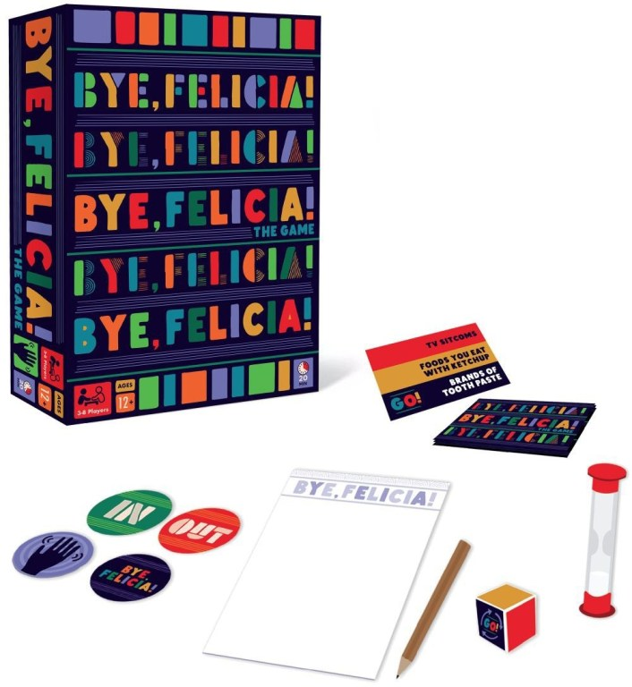 Bye Felicia! Party Game - components