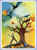 Dixit Card Tree Planets