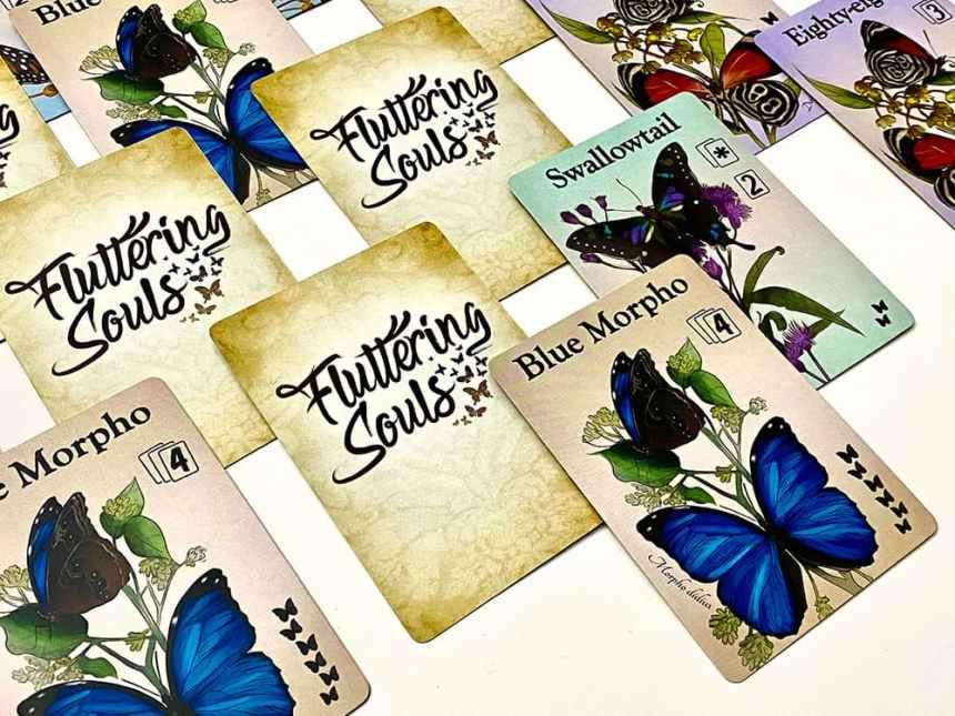 Fluttering Souls Card Game game in progress
