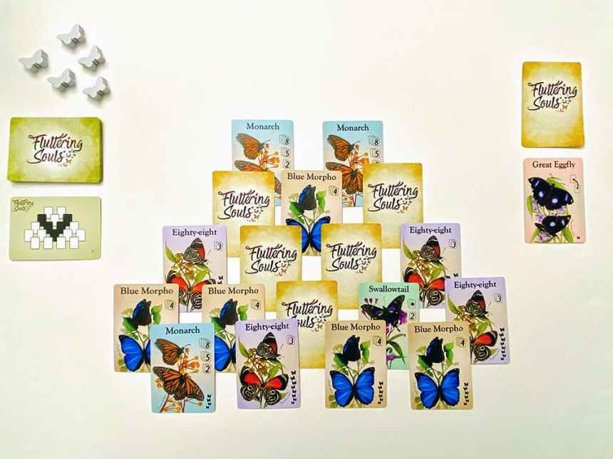 Fluttering Souls Two Player Card Game Setup