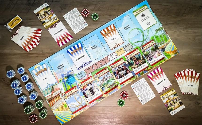 Funfair two player game setup