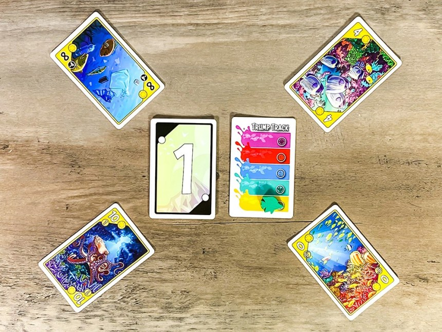 Sea Change trick taking game leading suit