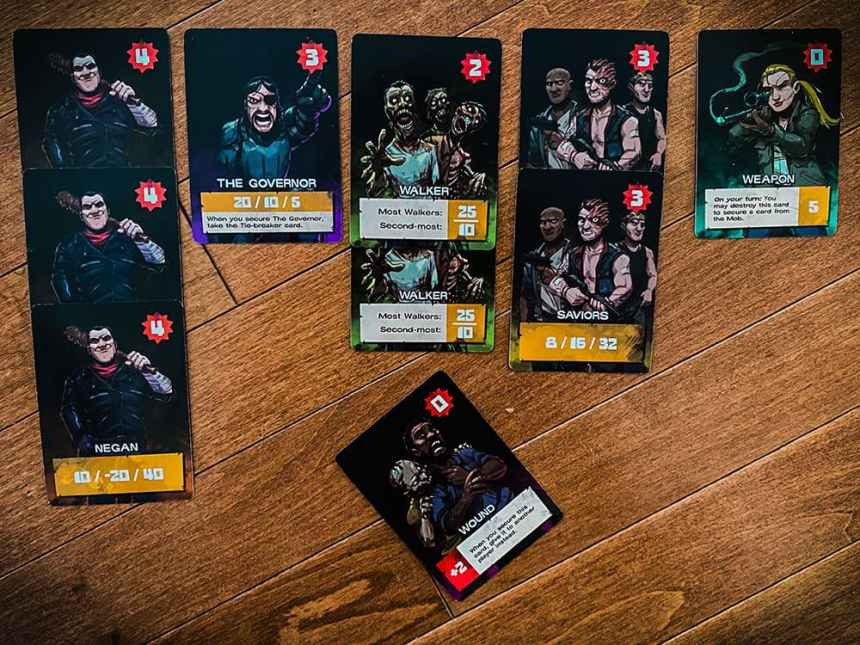 The Walking Dead Something To Fear Card Game end game scoring