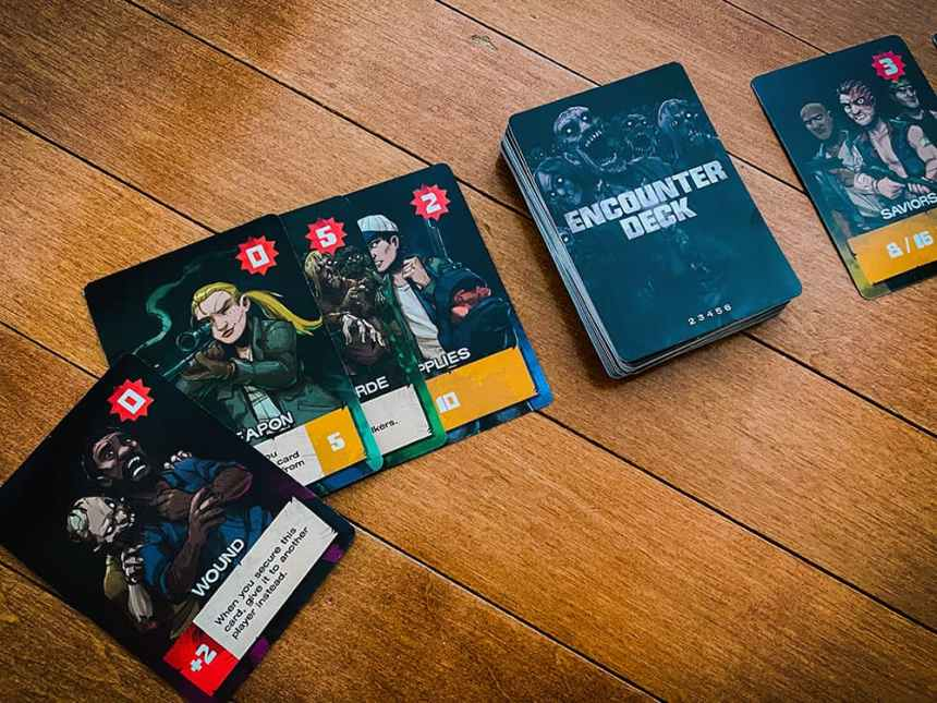 The Walking Dead Something To Fear Card Game - The Mob