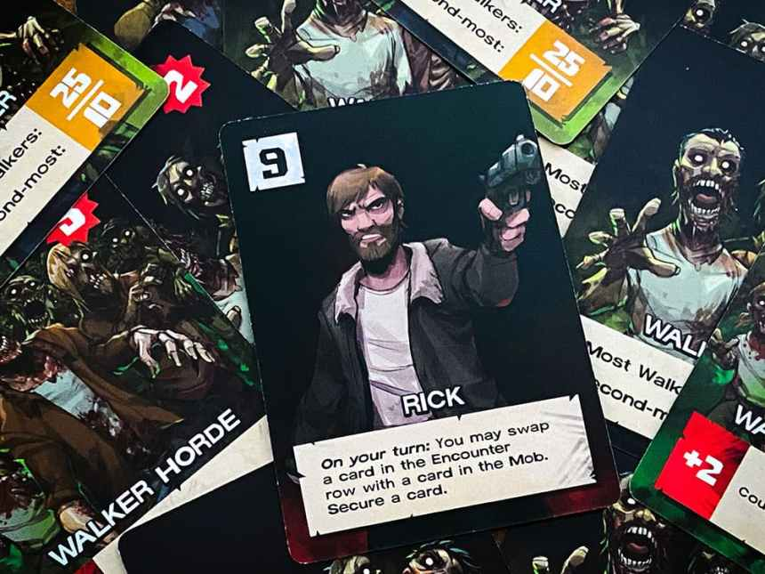 The Walking Dead Something To Fear Card Game Rick and Zombie Horde