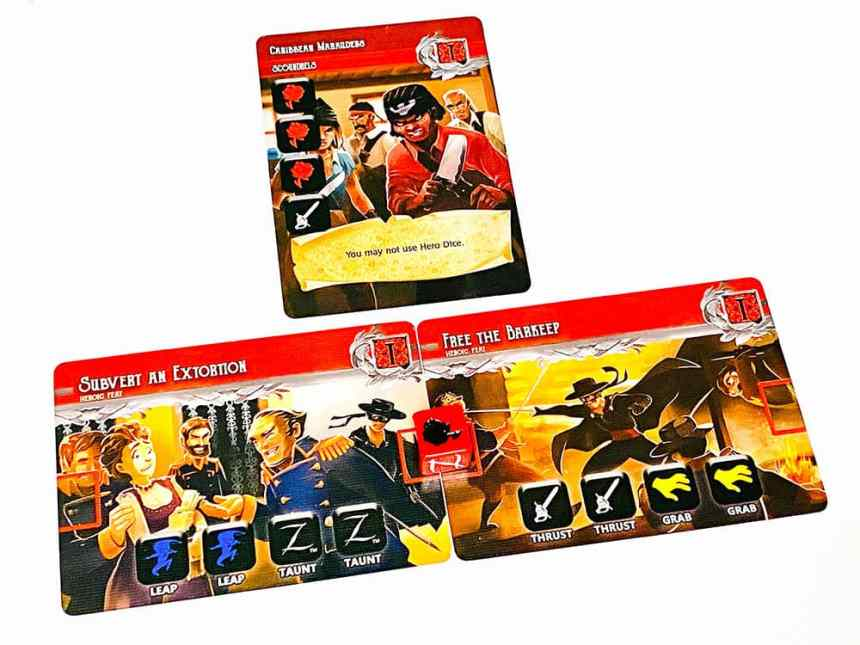 Scoundrel Caribbean Marauders. You may not use Hero Dice.  Locations: Subvert an Extortion, Free the Barkeep.
