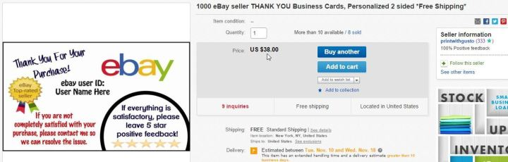 The Best Ebay Business Cards Ebay Sellers