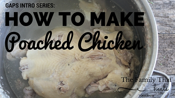 Quick, easy instructions to make a poached chicken and yield lots of nourishing chicken stock and cooked chicken for future meals!