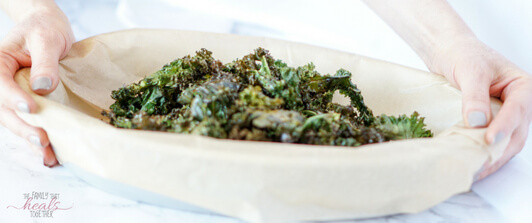 Homemade Kale Chips (Kids Love!)   The Family That Heals Together