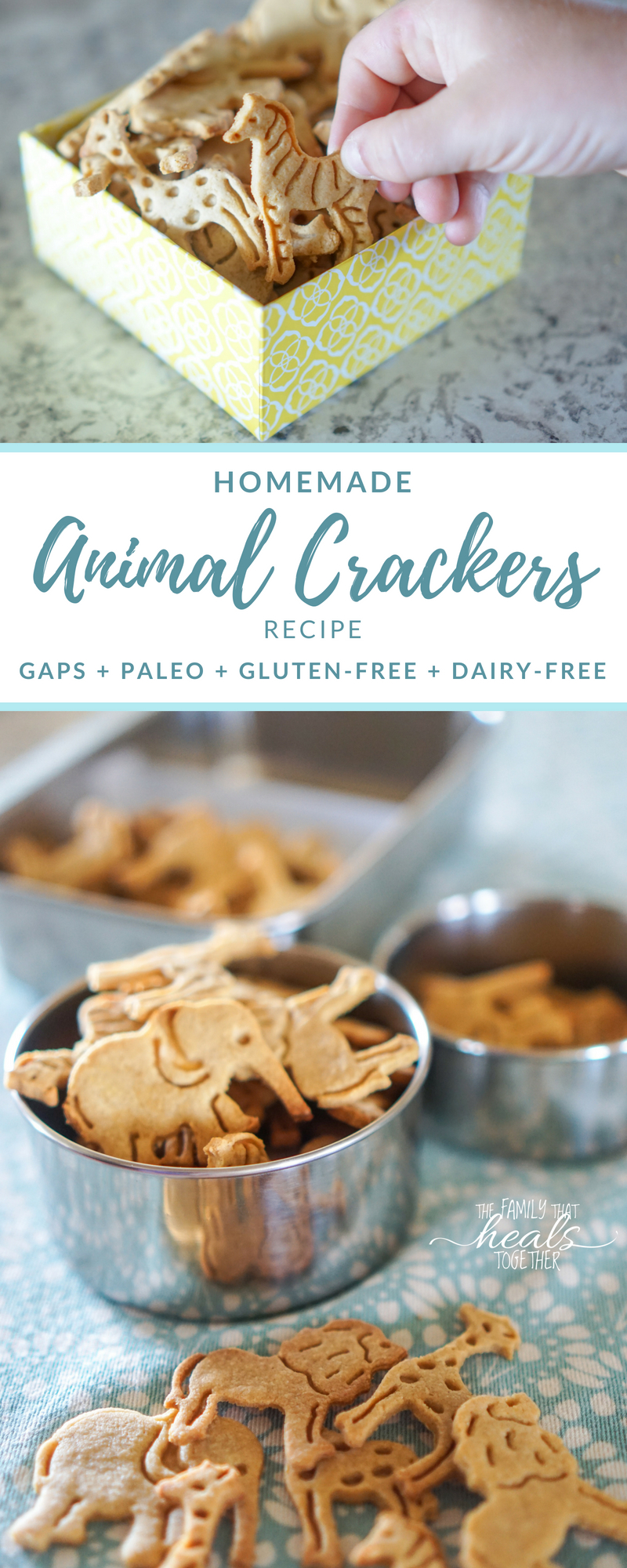 Animal Cracker Recipe for Paleo & GAPS Diet | Gluten-Free, Grain-Free, Dairy-Free, and Low Carb | The Family That Heals Together