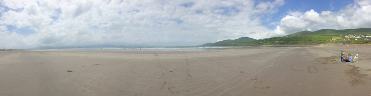 Inch Beach panorama - things to do in Dingle Ireland
