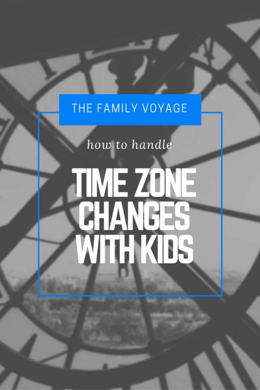 How we handle time zone changes with kids