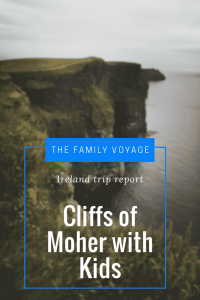 visiting the Cliffs of Moher with kids