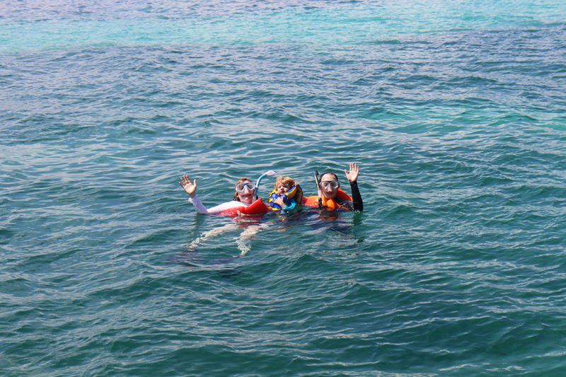snorkeling with kids in Puerto Rico