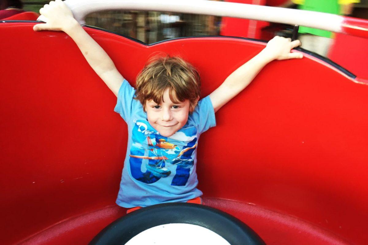 Teacups vs. Francis' Ladybug Boogie: same ride, shorter line. Equal fun!