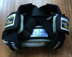 The Ride Safer Delight travel vest comes folded down to a very compact size. Instructions are printed right on the vest.