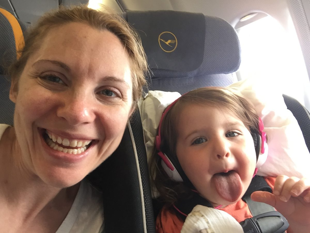 Lufthansa in-flight entertainment system, Lufthansa movies for kids, flying Lufthansa with toddler