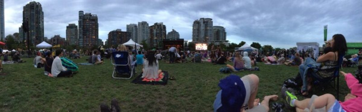 Vancouver jazz festival in David Lam Park