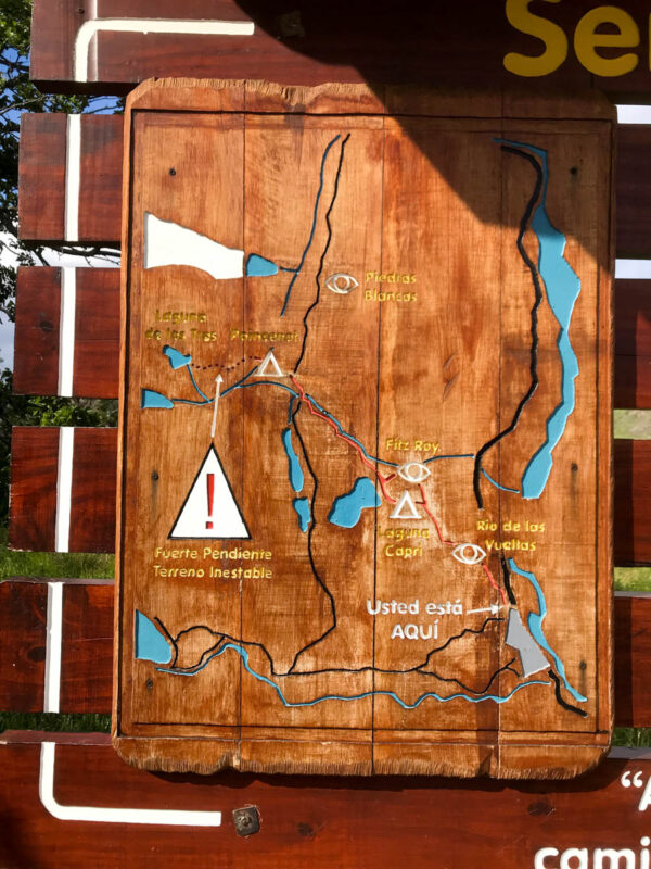 El Chalten trekking map