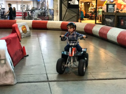... and Jacob found a new love for ATVs. Yes, SportMall in Santiago, Chile is a place where dreams DO come true!