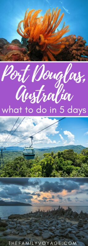 If you're planning a visit to Queensland, Australia don't miss these amazing things to do in Cairns and things to do Port Douglas! We've planned out your 5 day itinerary to see the best that the area has to offer. You'll visit the rainforest and then soar above it, you'll snorkel the Great Barrier Reef, you'll learn about Aboriginal traditions and much more. #travel #Australia #Queensland #Cairns #PortDouglas