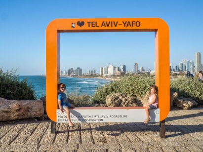 best things to do in Tel Aviv with kids - taking in the view from Jaffa