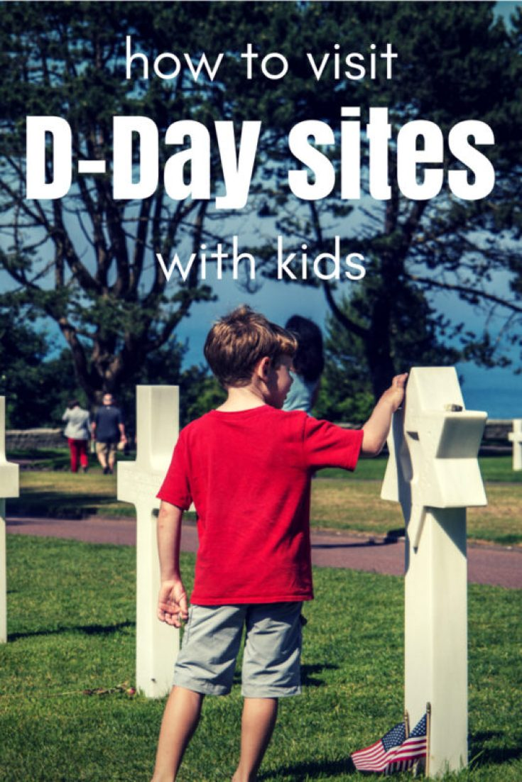 Talking to kids about the horrors of war isn't easy. But what if you plan to visit D-Day sites on your trip to Normandy with kids? Paying homage to the fallen soldiers of World War II is one of the best things to do in Normandy, and you CAN do it in a way that's meaningful for kids. CLICK to find out where to go and what to discuss when you visit D-Day sites with kids. #France #Normandy #DDay #OmahaBeach #JuneBeach #SwordBeach #GoldBeach #PointeDuHoc #travel #familytravel #EuropeWithKids