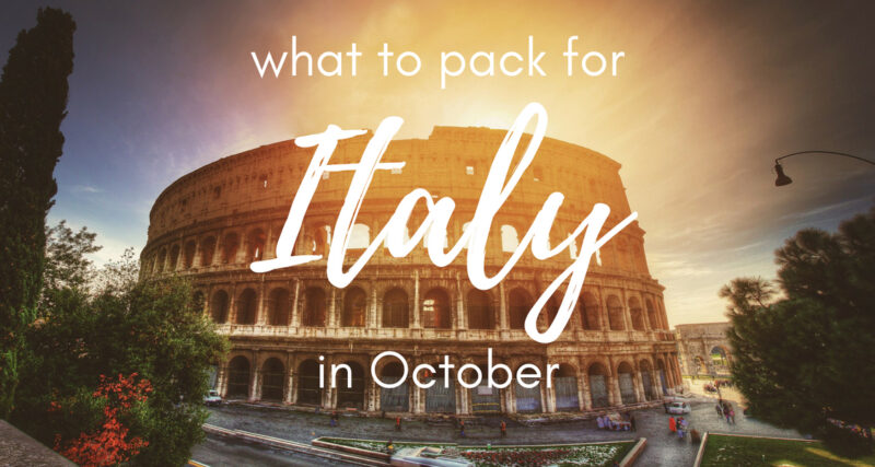 Fall capsule wardrobe for travel: what to pack for Italy in October
