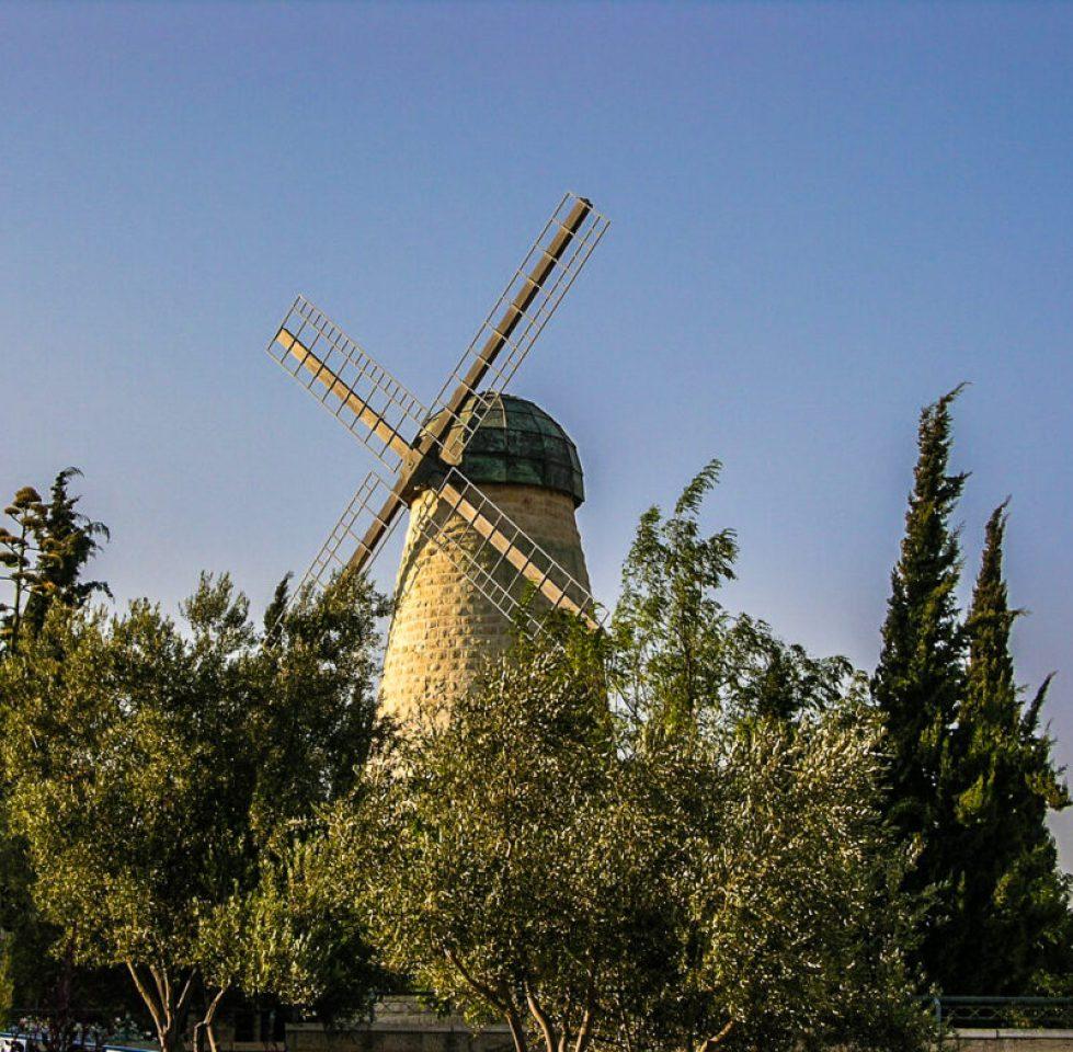 Montefiore windmill in Jerusalem, Israel