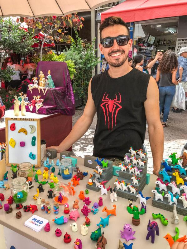 Nahlat Binyamin craft fair, one of the best free things to do in Tel Aviv