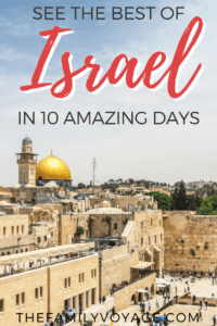 Planning a trip to Israel? You'll find the best Israel itinerary, including what to do in Jerusalem and Tel Aviv, a roadtrip to Haifa and beyond, visiting the Dead Sea and more. #travel #travelplanning #Israel #Jerusalem #TelAviv #Haifa #DeadSea #Masada #Negev #NorthernIsrael #SouthernIsrael #familytravel #itinerary #travelinspiration
