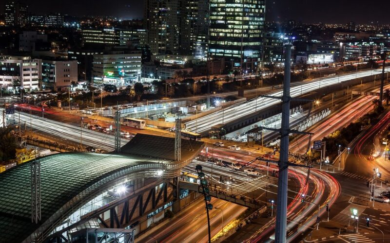 Traffic in Tel Aviv at night. #TelAviv #Israel #traffic #cityscape #highway