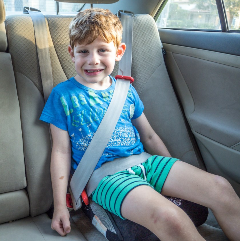 The Bubblebum is a comfortable travel booster seat even if it lacks some of the fancy features found on other comfortable backless booster seats