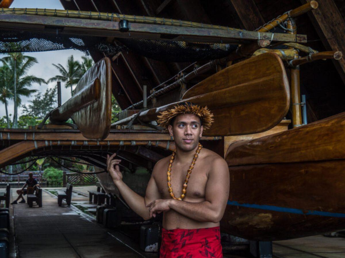 Iosepa, traditional Hawaiian sailing canoe at BYU-Hawaii and Polynesian Cultural Center
