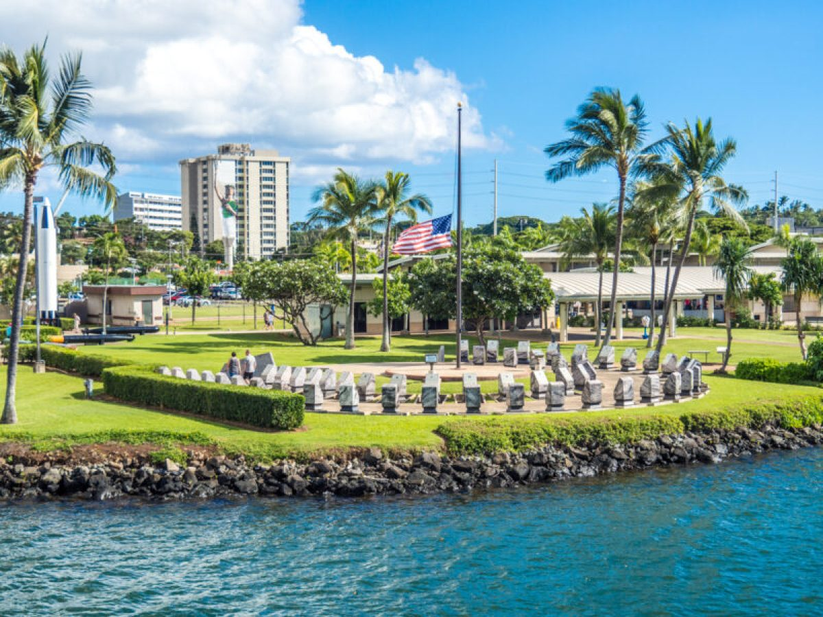 memorials at Pearl Harbor visitors center
